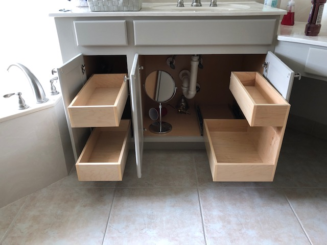 Custom Roll Out Drawers Woodwork The Drawer Dude