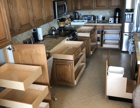 custom kitchen cabinets with roll out drawers - The Drawer Dude