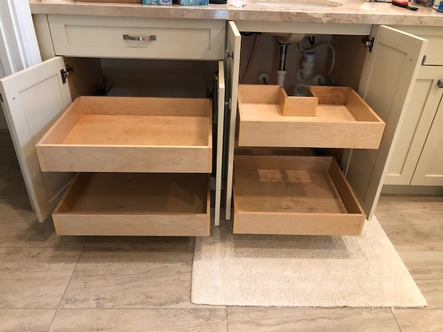 Our Palm Beach County Custom Drawers Installation Process. Custom roll out drawers